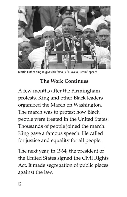 Book Preview For Martin Luther King, Jr. Page 12