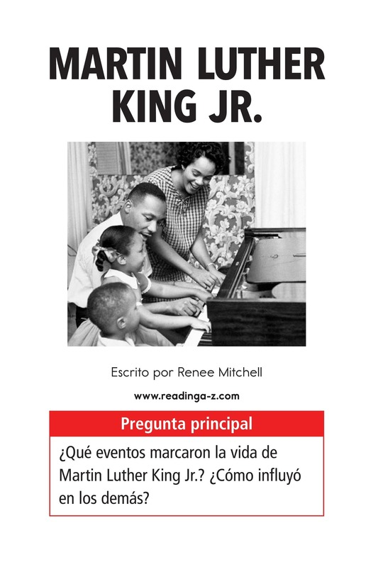 Book Preview For Martin Luther King, Jr. Page 1