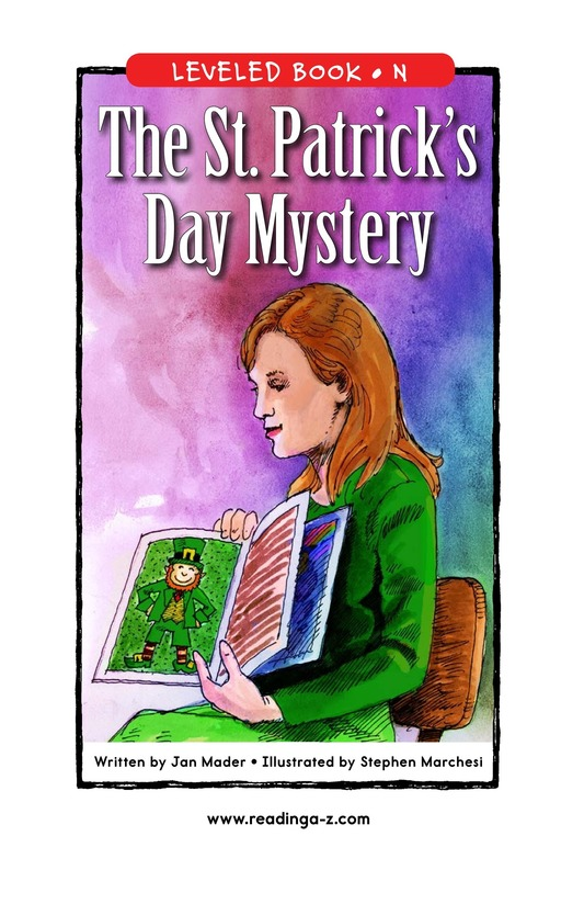 Book Preview For The St. Patrick's Day Mystery Page 1