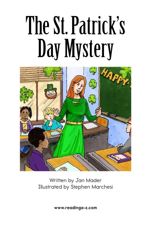 Book Preview For The St. Patrick's Day Mystery Page 2
