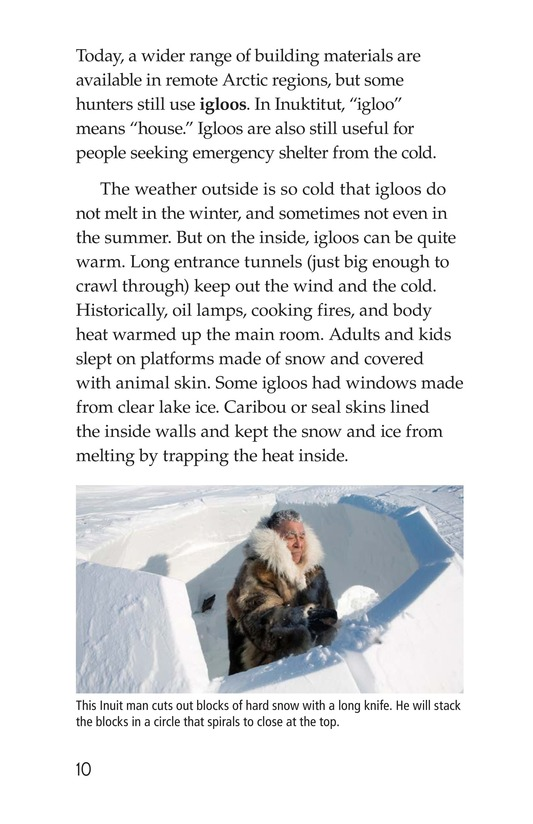 Book Preview For The Inuit: Northern Living Page 10