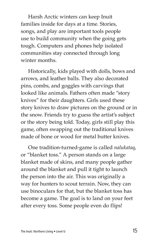 Book Preview For The Inuit: Northern Living Page 15