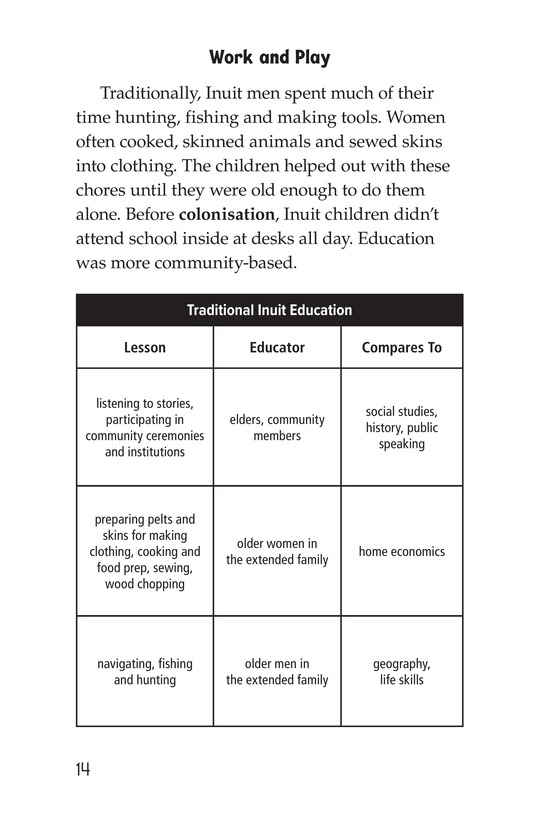 Book Preview For The Inuit: Northern Living Page 14