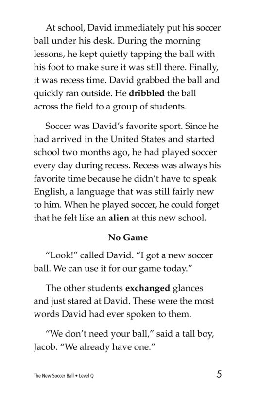 Book Preview For The New Soccer Ball Page 5