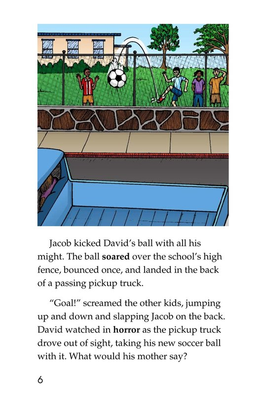 Book Preview For The New Soccer Ball Page 6