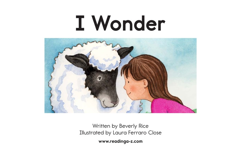 Book Preview For I Wonder Page 2