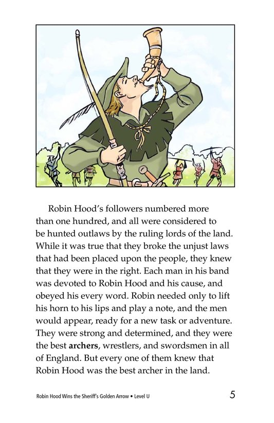Book Preview For Robin Hood Wins the Sheriff's Golden Arrow Page 5