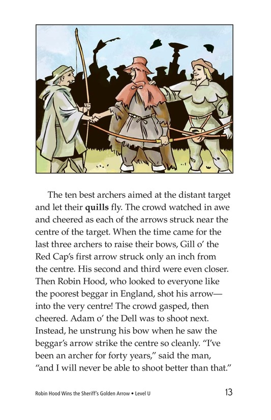 Book Preview For Robin Hood Wins the Sheriff's Golden Arrow Page 13