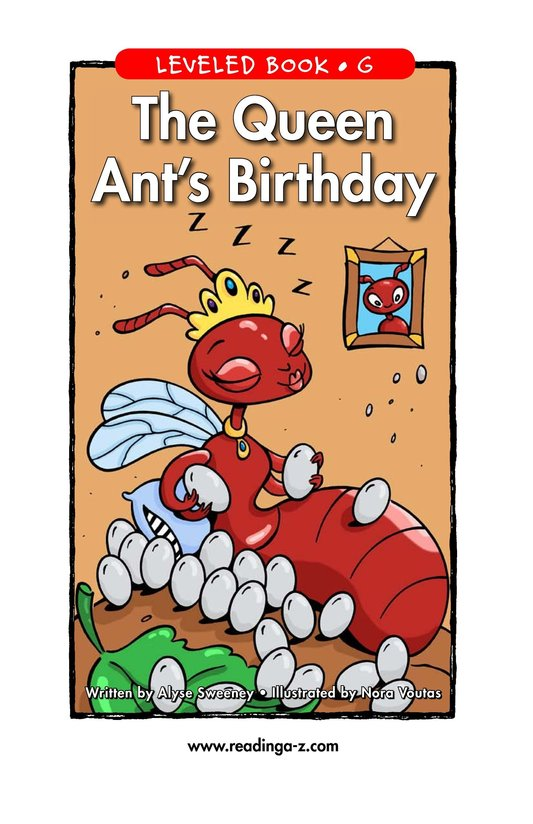 Book Preview For The Queen Ant's Birthday Page 1