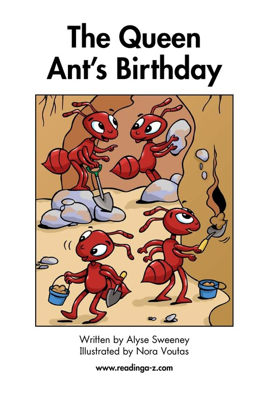 Book Preview For The Queen Ant's Birthday Page 2