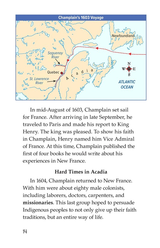 Book Preview For Samuel de Champlain, Father of New France Page 14