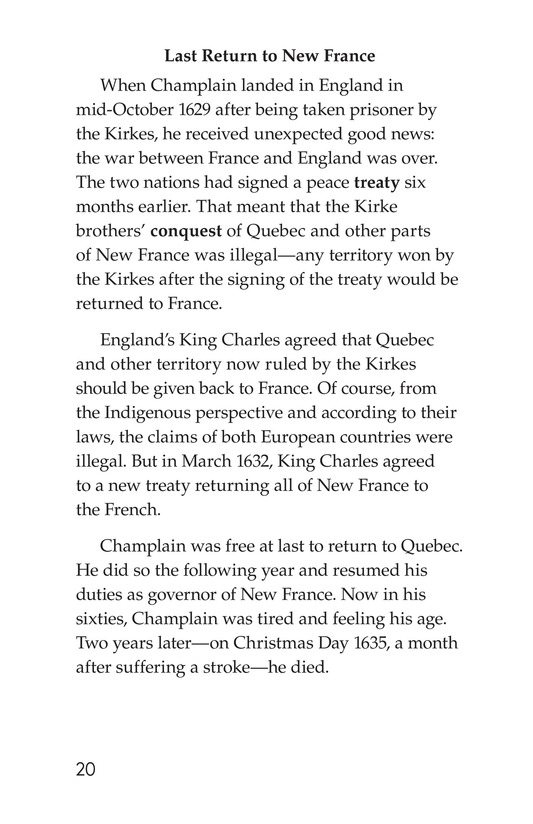 Book Preview For Samuel de Champlain, Father of New France Page 20