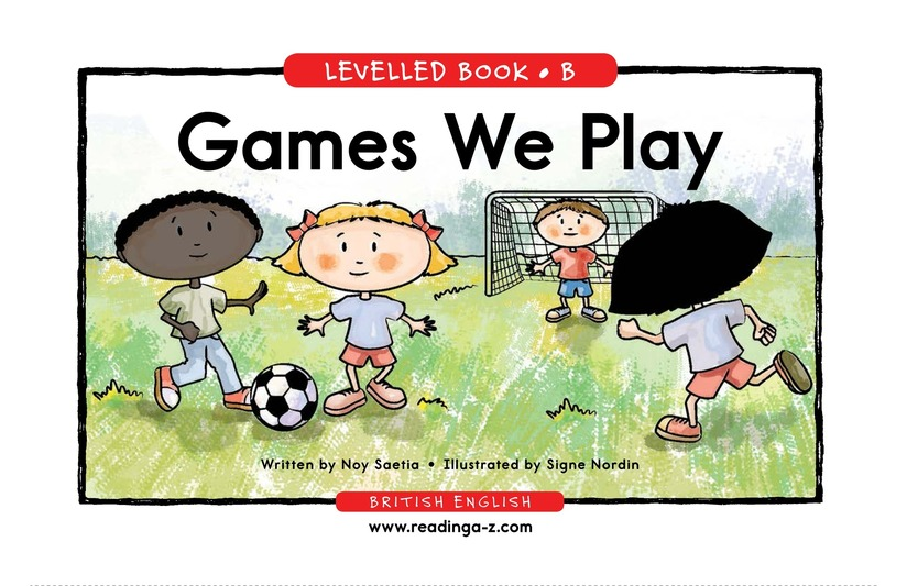 Book Preview For Games We Play Page 1