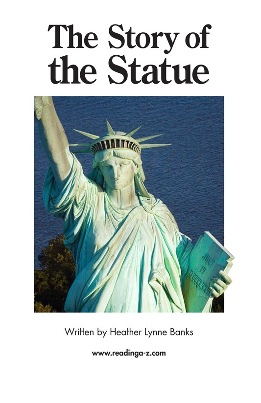 Book Preview For The Story of the Statue Page 1
