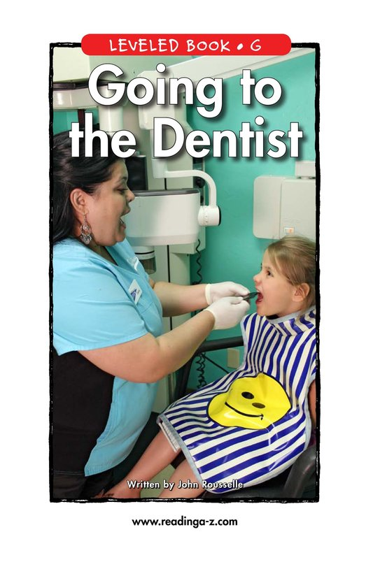 Book Preview For Going to the Dentist Page 0