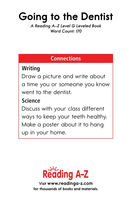 Book Preview For Going to the Dentist Page 13