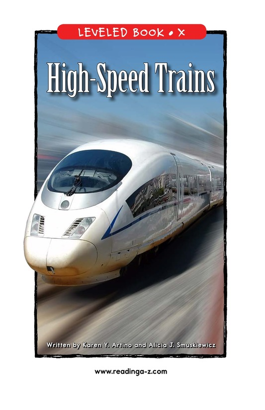 Book Preview For High-Speed Trains Page 1