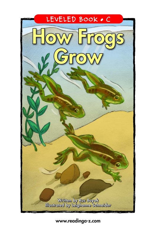 Book Preview For How Frogs Grow Page 1