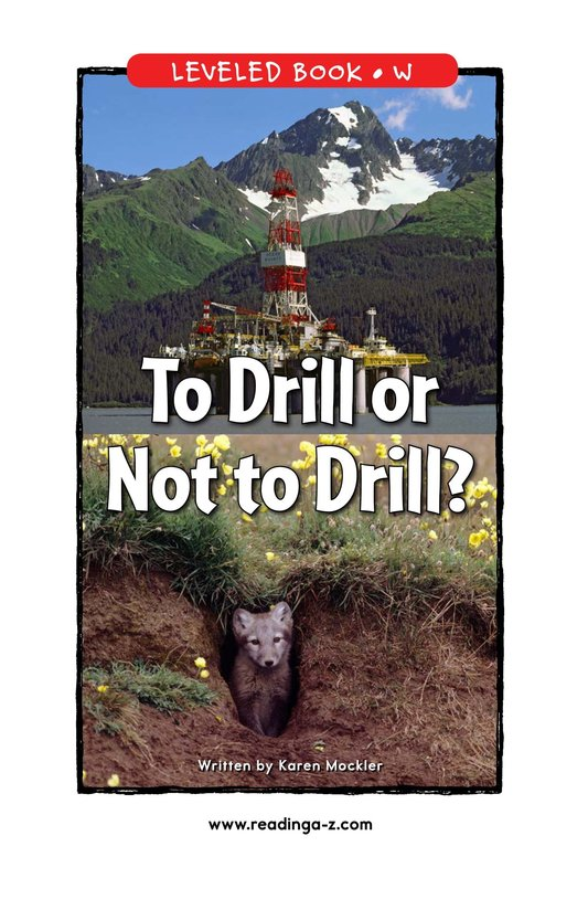 Book Preview For To Drill or Not to Drill? Page 1