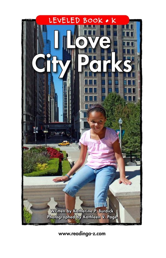 Book Preview For I Love City Parks Page 1