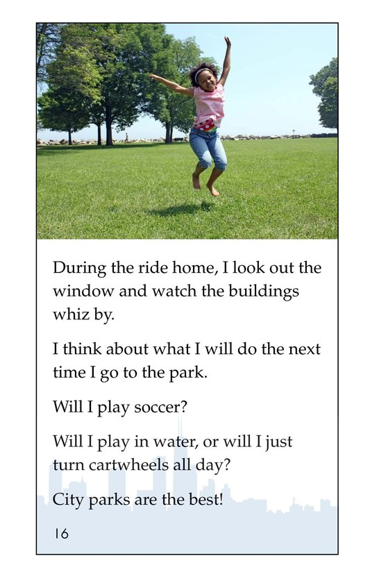 Book Preview For I Love City Parks Page 16