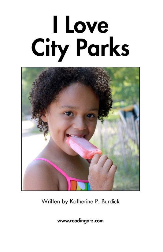 Book Preview For I Love City Parks Page 2