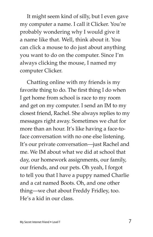 Book Preview For My Secret Internet Friend Page 7