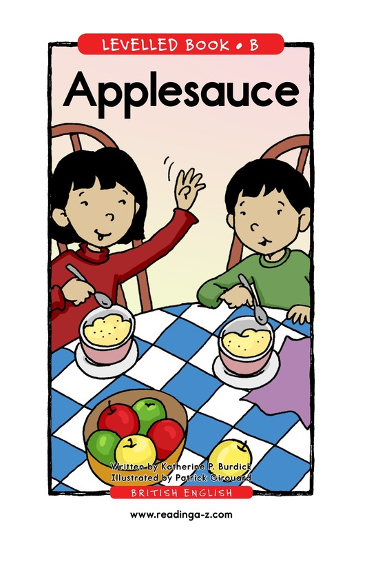 Book Preview For Applesauce Page 1