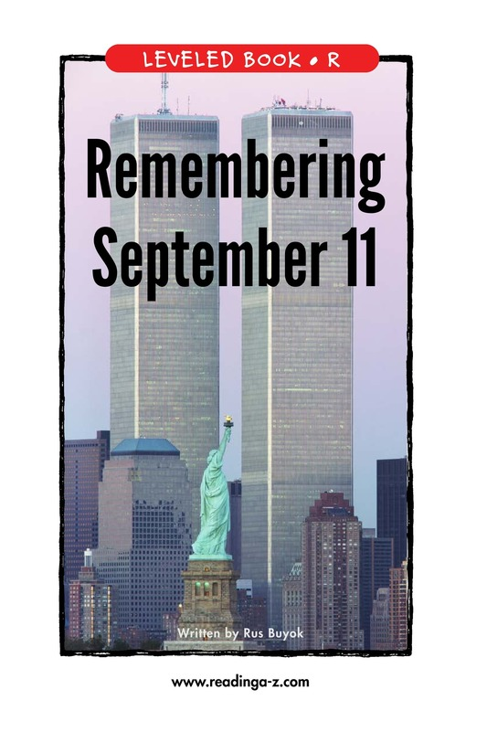 Book Preview For September 11: Always Remember Page 1