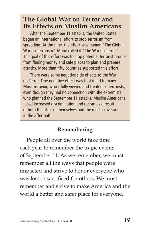 Book Preview For September 11: Always Remember Page 19