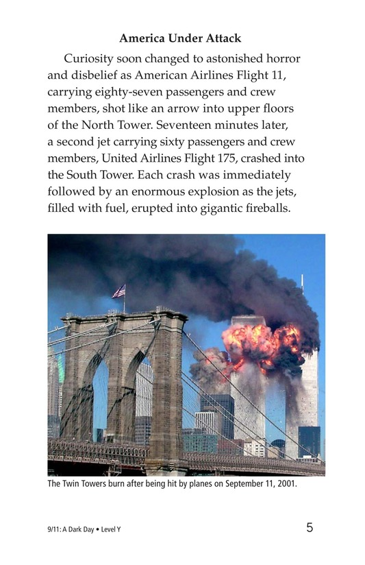 Book Preview For 9/11: A Dark Day Page 5