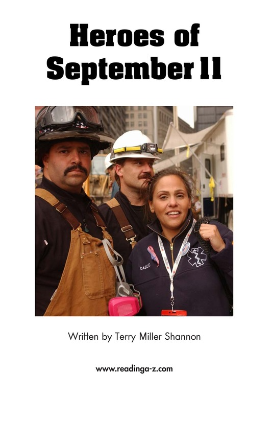 Book Preview For Heroes of September 11 Page 2