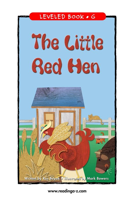 Book Preview For The Little Red Hen Page 1