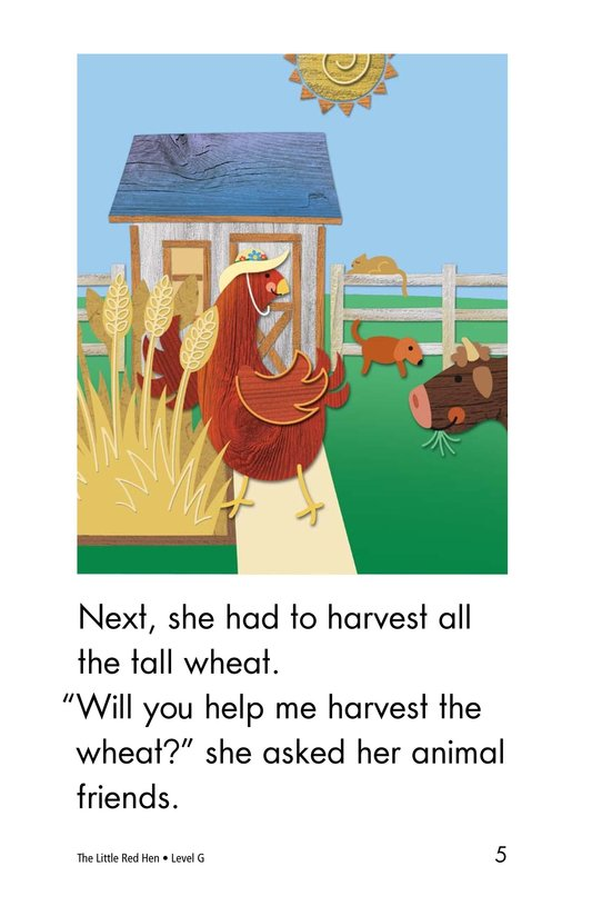 Book Preview For The Little Red Hen Page 5