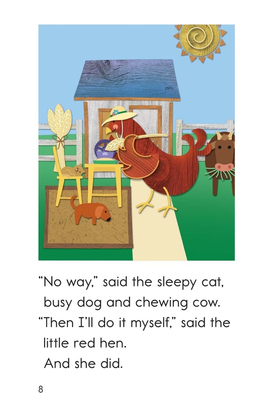 Book Preview For The Little Red Hen Page 8
