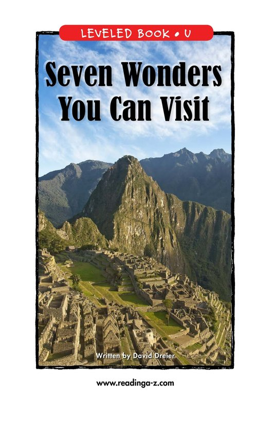 Book Preview For Seven Wonders You Can Visit Page 1