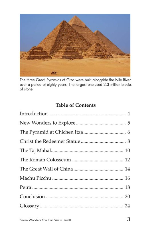 Book Preview For Seven Wonders You Can Visit Page 3