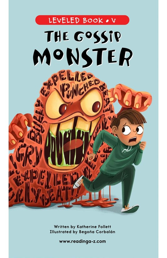 Book Preview For The Gossip Monster Page 1