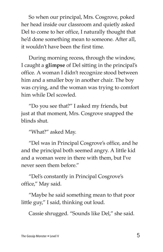 Book Preview For The Gossip Monster Page 5