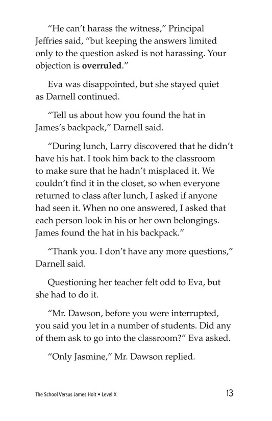 Book Preview For The School Versus James Holt Page 13