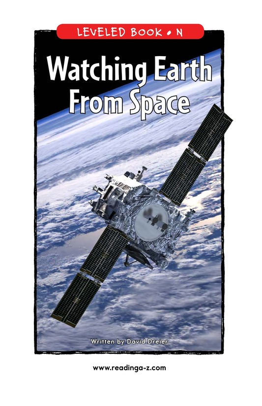 Book Preview For Watching Earth From Space Page 1