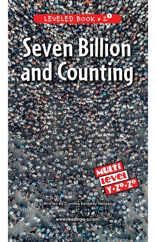 Book Preview For Seven Billion and Counting Page 0