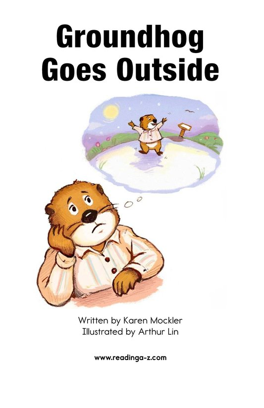 Book Preview For Groundhog Goes Outside Page 2