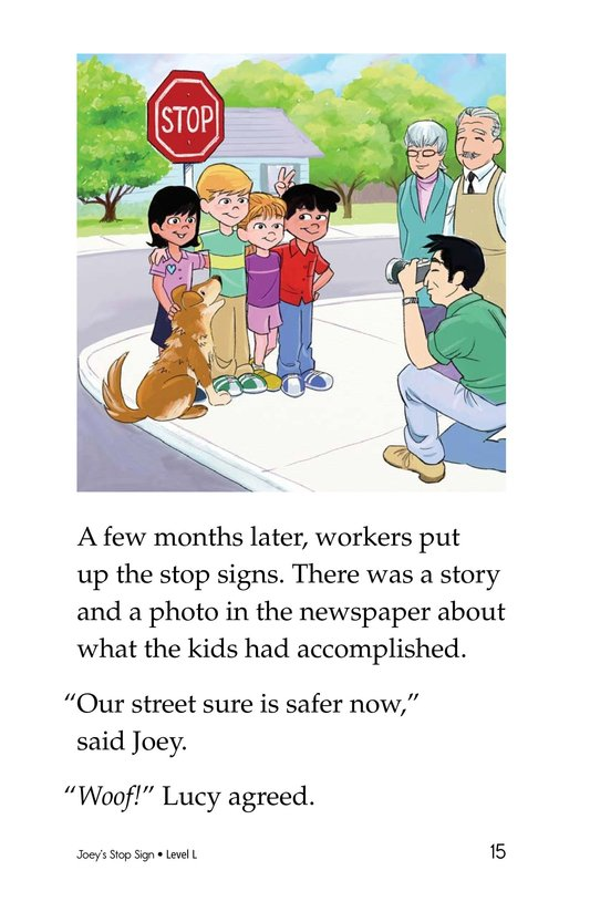 Book Preview For Joey's Stop Sign Page 15