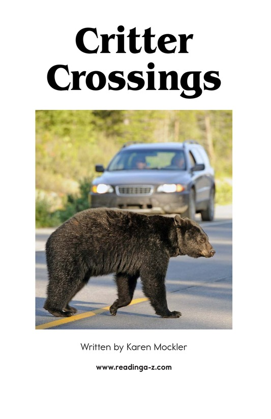 Book Preview For Critter Crossings Page 2