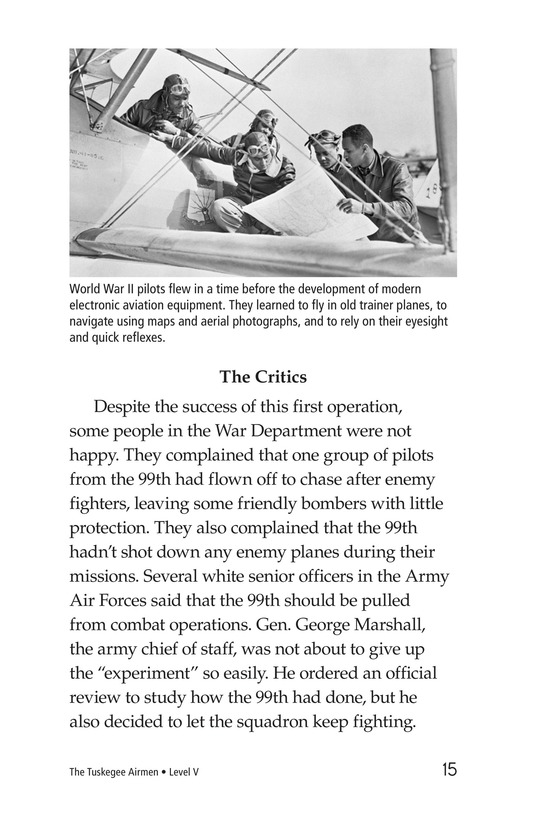 Book Preview For The Tuskegee Airmen Page 15