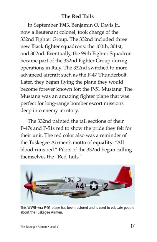 Book Preview For The Tuskegee Airmen Page 17