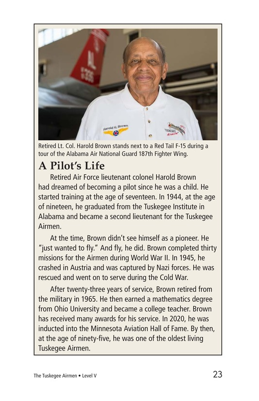 Book Preview For The Tuskegee Airmen Page 23