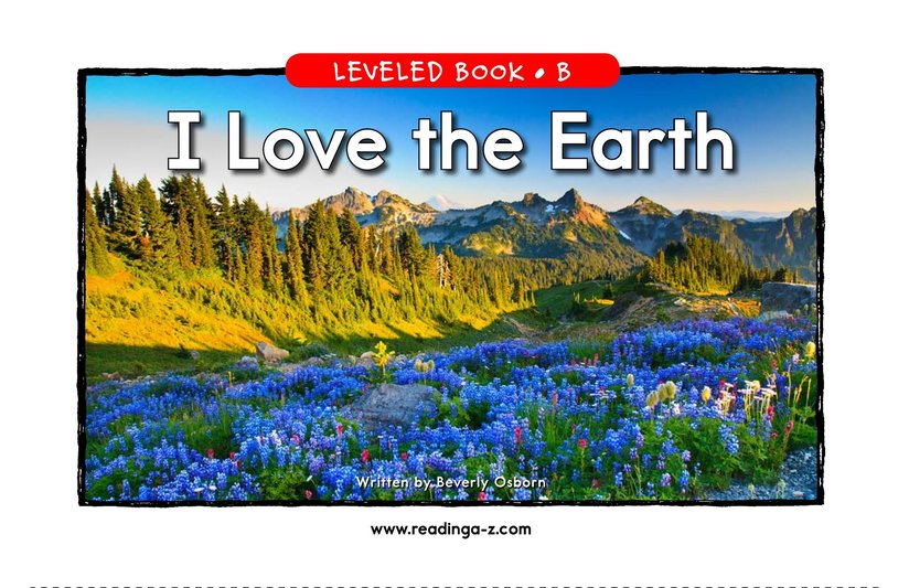 Book Preview For I Love the Earth Page 1