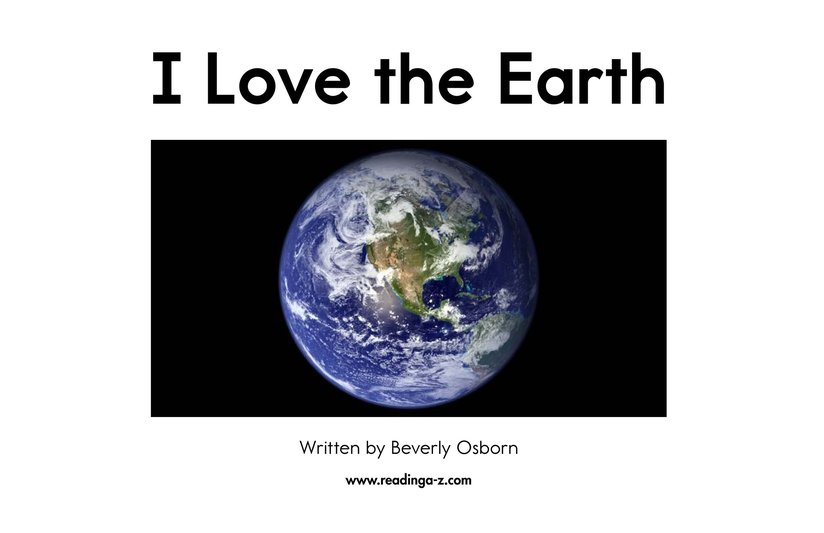 Book Preview For I Love the Earth Page 2